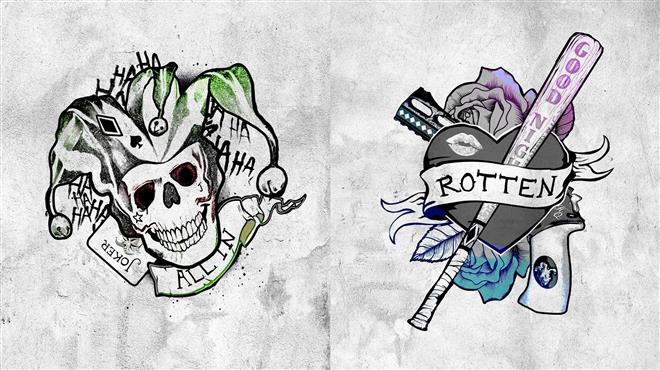 татуировки джокера из фильма отряд самоубийц на руке